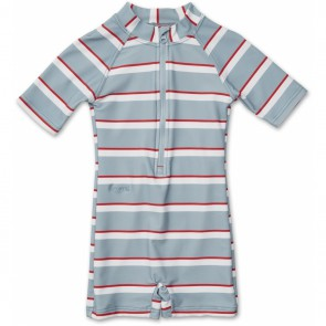 Liewood - Max Swim jumpsuit, Stripe blue/red