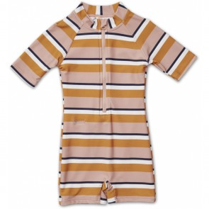 Liewood -  Max Swim jumpsuit Stripe rose/mustard