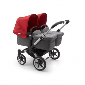 Bugaboo Donkey 3 Twin ALU/GREY MELANGE-RED