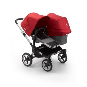 Bugaboo Donkey 3 Duo ALU/GREY MELANGE-RED