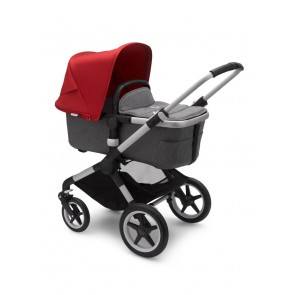Bugaboo Fox 2 ALU/GREY MELANGE-RED