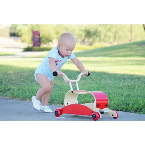 Wishbone Mini-Flip Walker - Red
