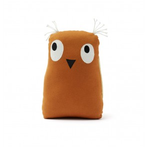 Kid's concept - Soft toy owl Edvin, Rust