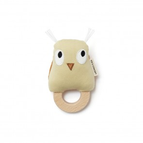 Kid's concept - Rattle owl Edvin, Green