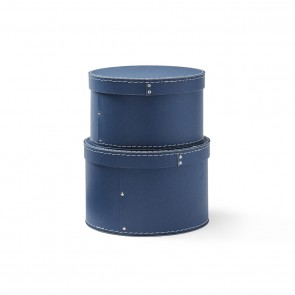 Kid's Concept - Storage box round 2-set dark blue