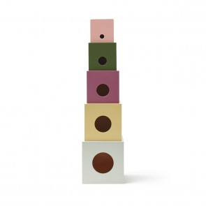 Kid's Concept -  Cubes wood 5 pcs EDVIN