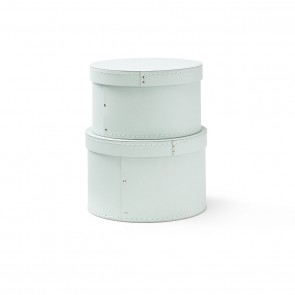 Kid's Concept - Storage box round 2-set light green