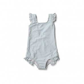 Liewood -  Tanna swimsuit seersucker stripe: Sea blue/white