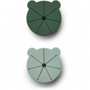 Liewood - Kelly Snack cup - 2 pack Mr bear green mix