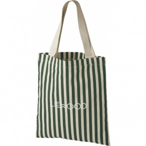Liewood -  Tote bag - small Stripe Garden green/sandy