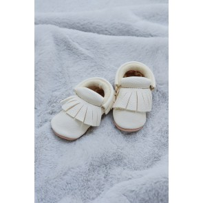 Minimellows  - Baby moccasins sandy white