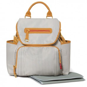 Grand Central Diaper Backpack - French Stripe