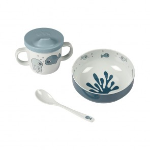 First meal set Sea friends Blue