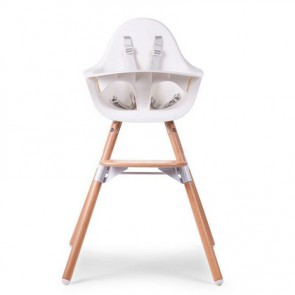 Childhome otroški stol Evolu 2 White/Natural