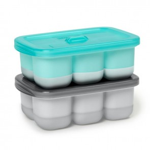 Easy-Fill Freezer Trays - Grey/Teal