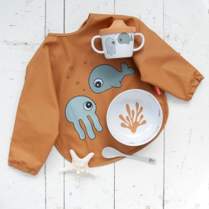 First meal set Sea friends Mustard/Grey