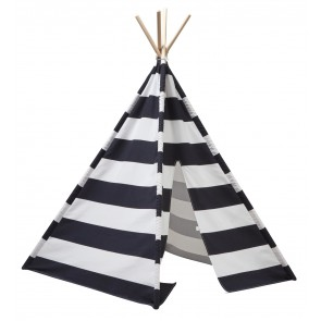 Tipi tent black/white