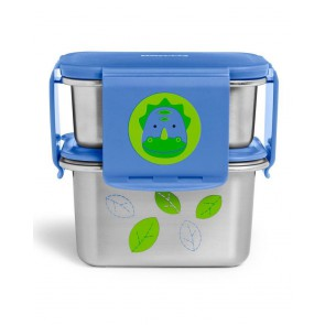 Zoo Stainless Steel Lunch Kit - Dino