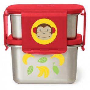 Zoo Stainless Steel Lunch Kit - Monkey