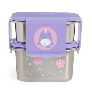 Zoo Stainless Steel Lunch Kit - Narhwal