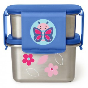 Zoo Stainless Steel Lunch Kit - Butterflay