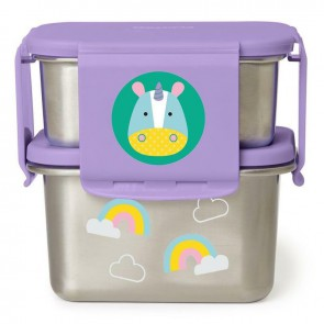 Zoo Stainless Steel Lunch Kit - Unicorn
