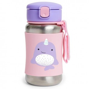 Zoo SS Straw Bottle - Narwhal