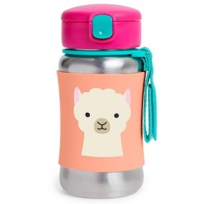 Zoo SS Straw Bottle - Llama